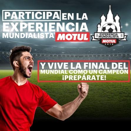 Vive la final de Mundial con Motul
