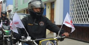 Motociclistas de Trujillo se unen en pasacalle en campaña por el día Mundial del donante de sangre