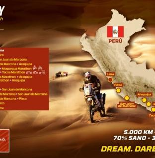 El Dakar 2019 revela su recorrido que será 100% Perú