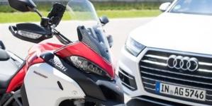 Ducati y Audi se unen para crear el primer sistema de conexión entre automóviles y motocicletas