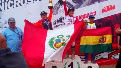 Latinoamericano Minicross 2018: Vasko Durand y Lucas Lino en el podio en la categoría 65 cc