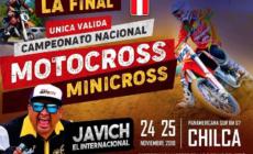 Relación de pilotos clasificados para Final Campeonato Nacional Motocross y Minicross